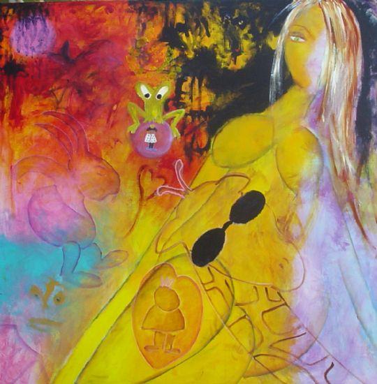 """Alice in Wonderland""  100 x 100 cm.  solgt"