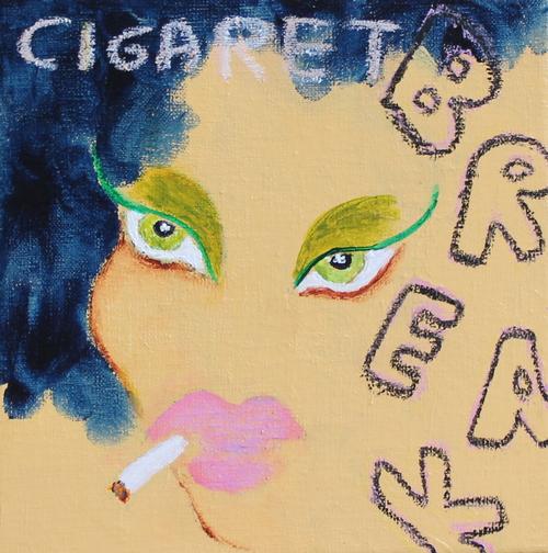 """Smoking hot""  20 x 20 cm.  solgt"