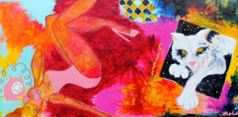 """""""Sweet escape""""  60 x 120 cm.  solgt"""