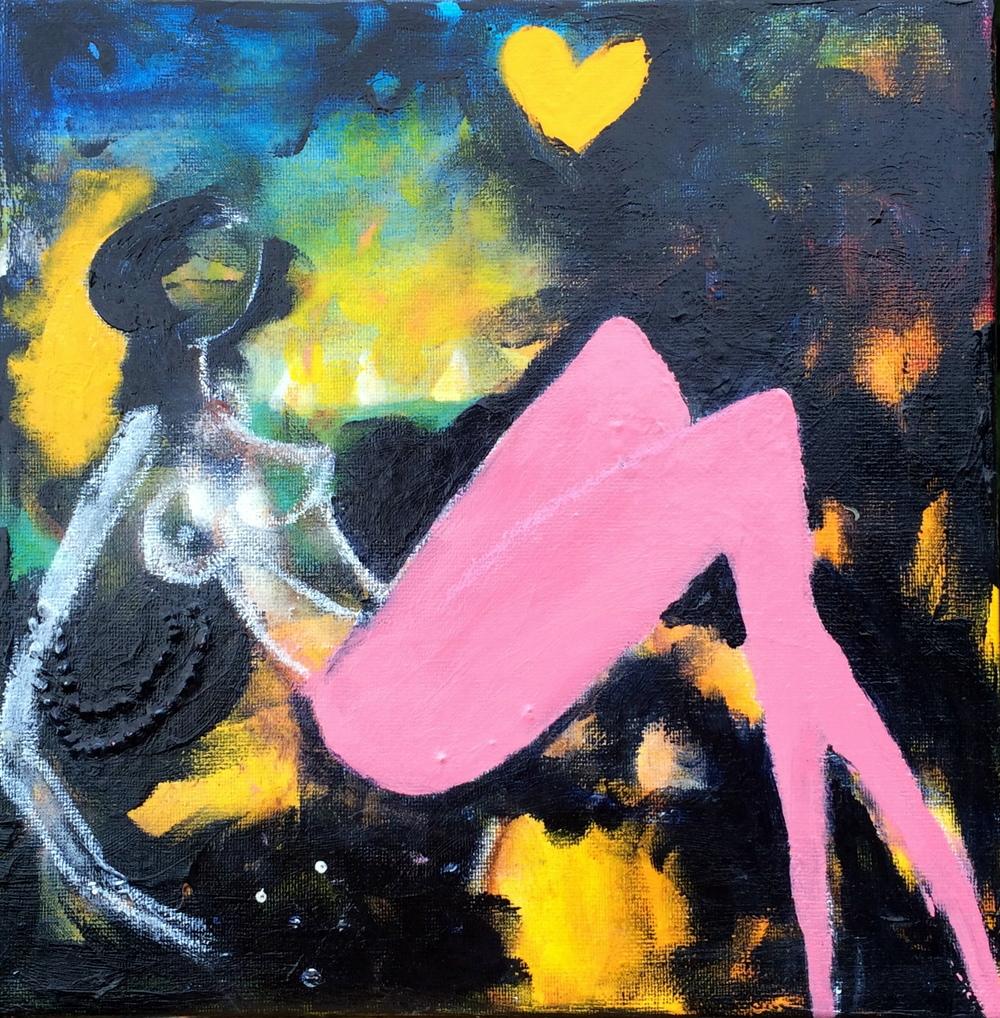 """""""Moonbeam""""  25 x 25 cm.  kr.: 1.500,-"""