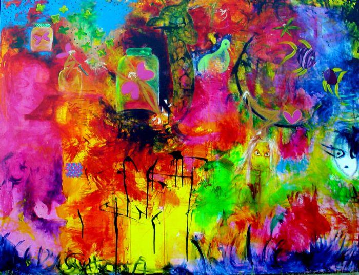 """Marmelade""  150 x 200 cm.  Udlånt"