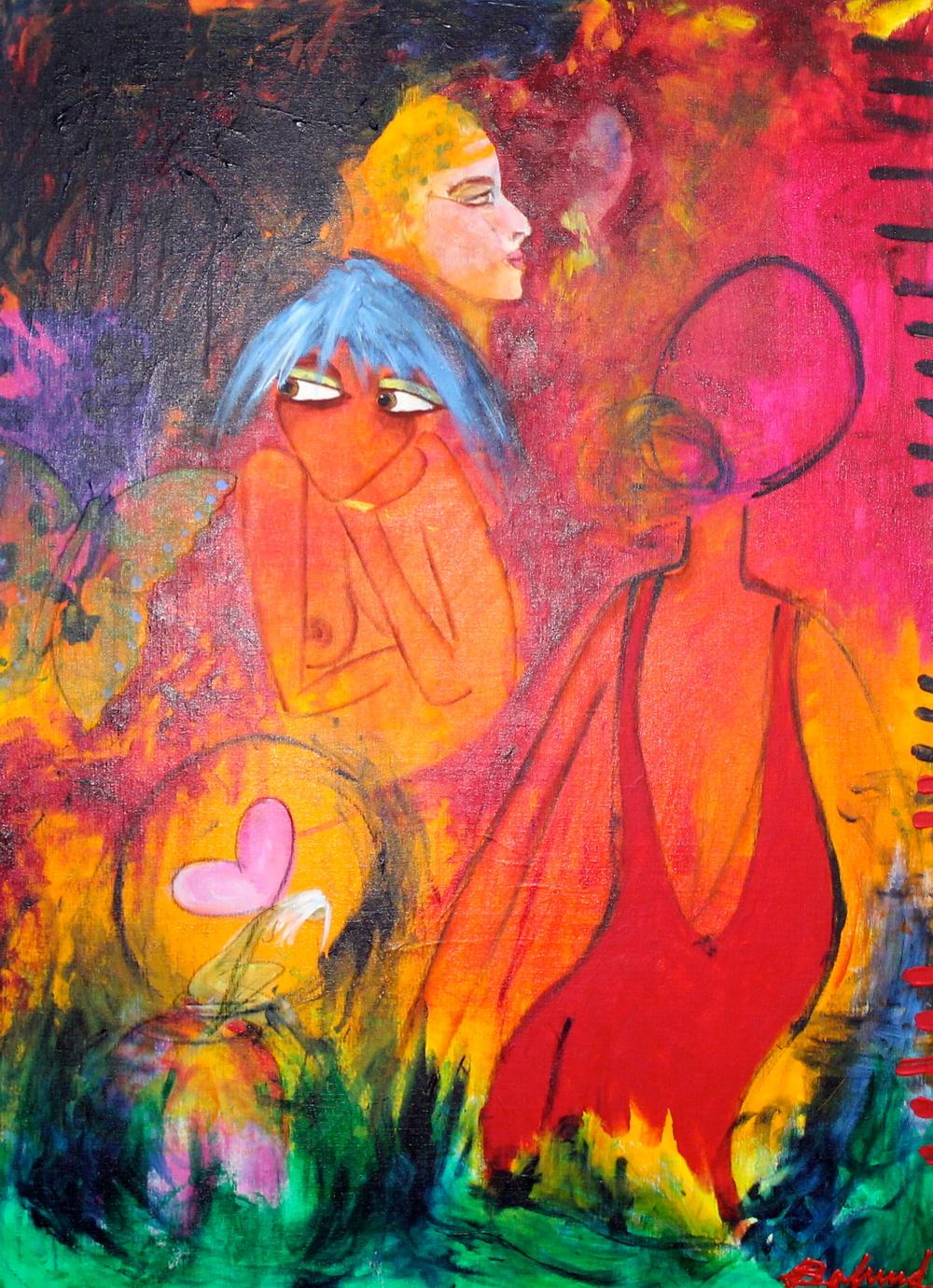 """Butterfly souls""  80 x 110 cm.  solgt"