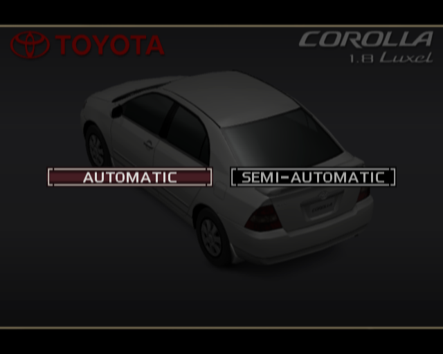 The selections for a Toyota Corolla, a car normally equipped with a torque converter-based automatic.