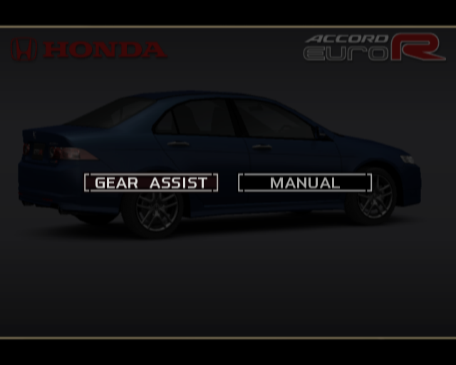The selections for a Honda Accord Type-R, a car normally equipped with a clutch-based manual.