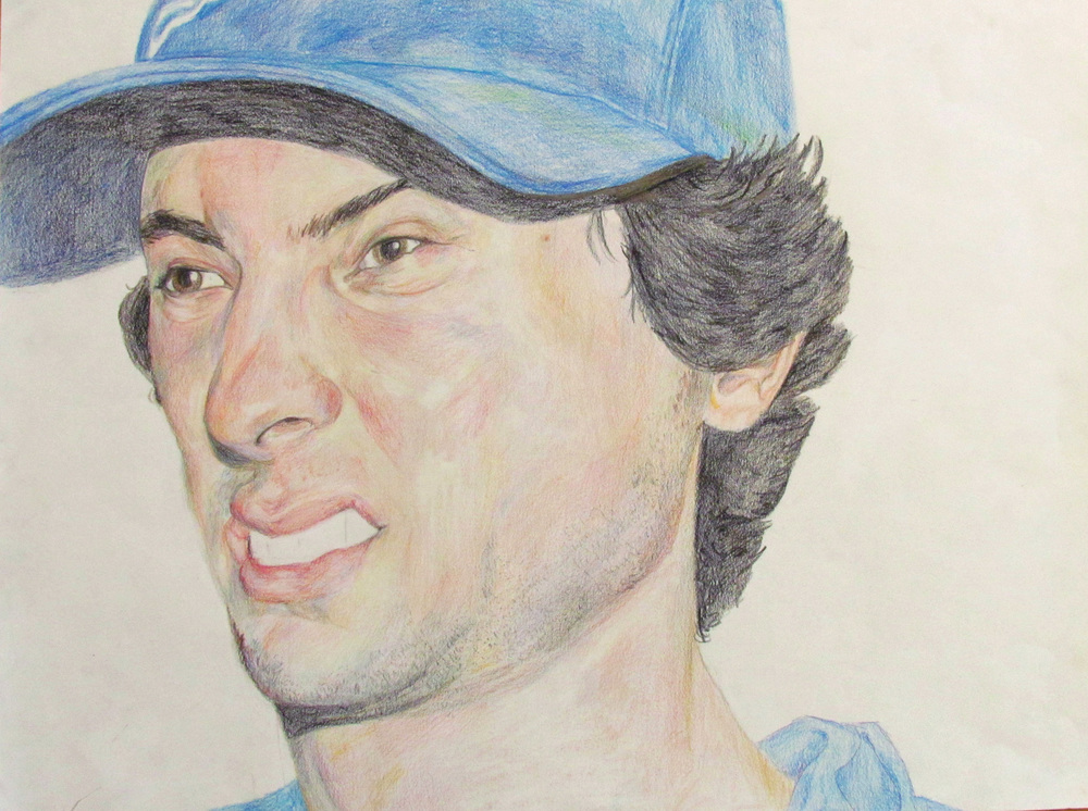 Ethan's Response to a Flash, 2010, Colored Pencil on Paper, 30 inches (76.2 cm) x 40 inches (101.6 cm)