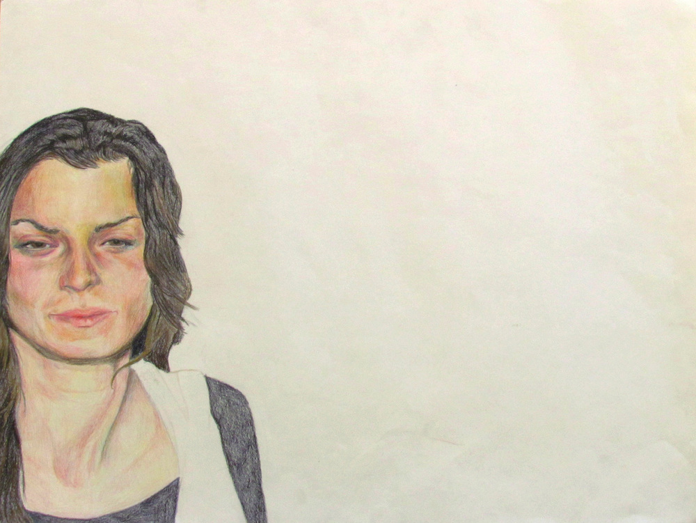 Sarah's Response to a Flash, 2010, Colored Pencil on Paper, 30 inches (76.2 cm) x 40 inches (101.6 cm)