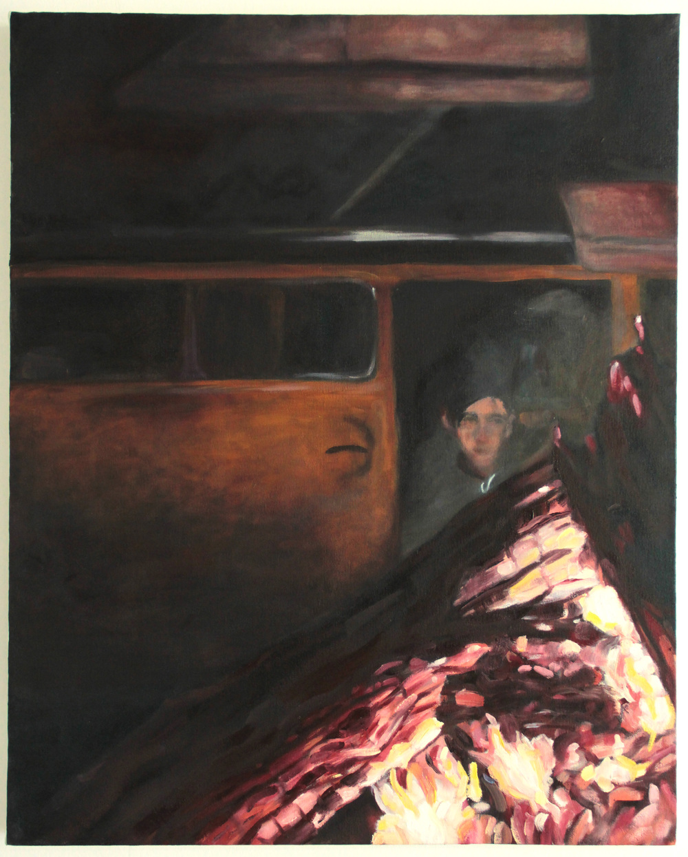 Between These Heart Strings Lived Saul Bellow, 2011, Oil on Canvas, 40 inches (101.6cm) x 30 inches (76.2cm)
