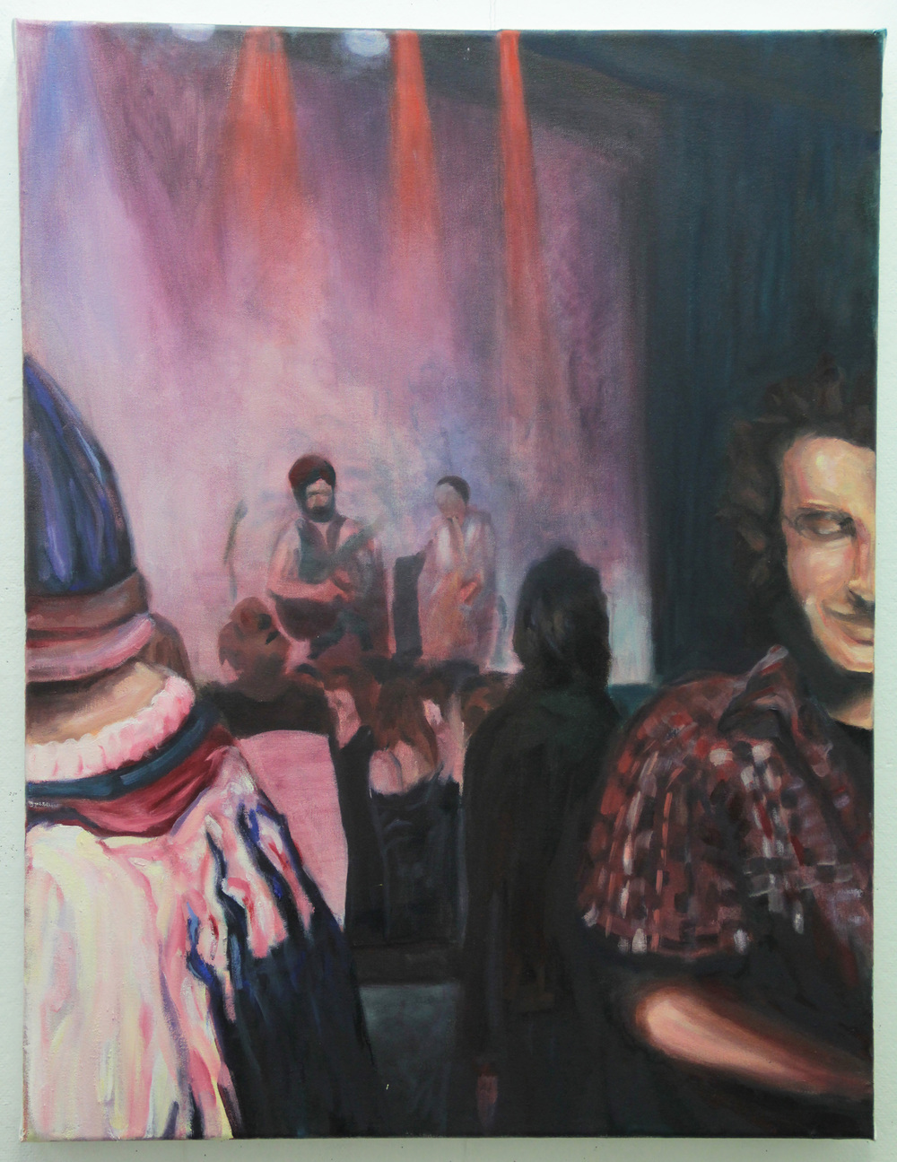 Smoke Rise Slings, 2011, Oil on Linen, 40 inches (101.6 cm) x 30 inches (76.2 cm)