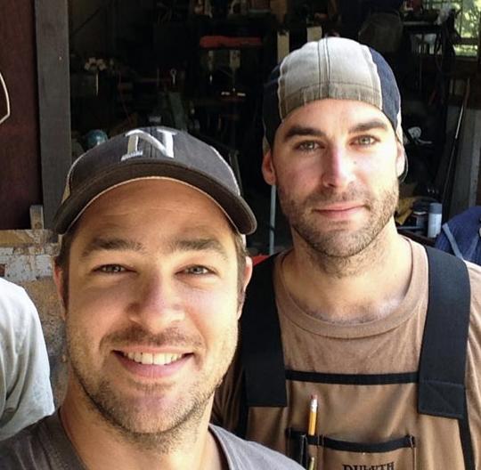 Owner and Designer Nate Deyesso, and Lead Builder Sam Peterson.