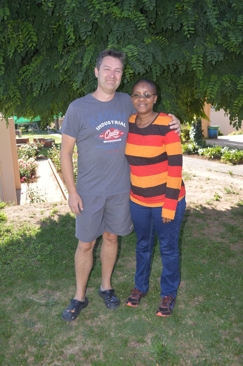 Andrew and his housemother in Khotso