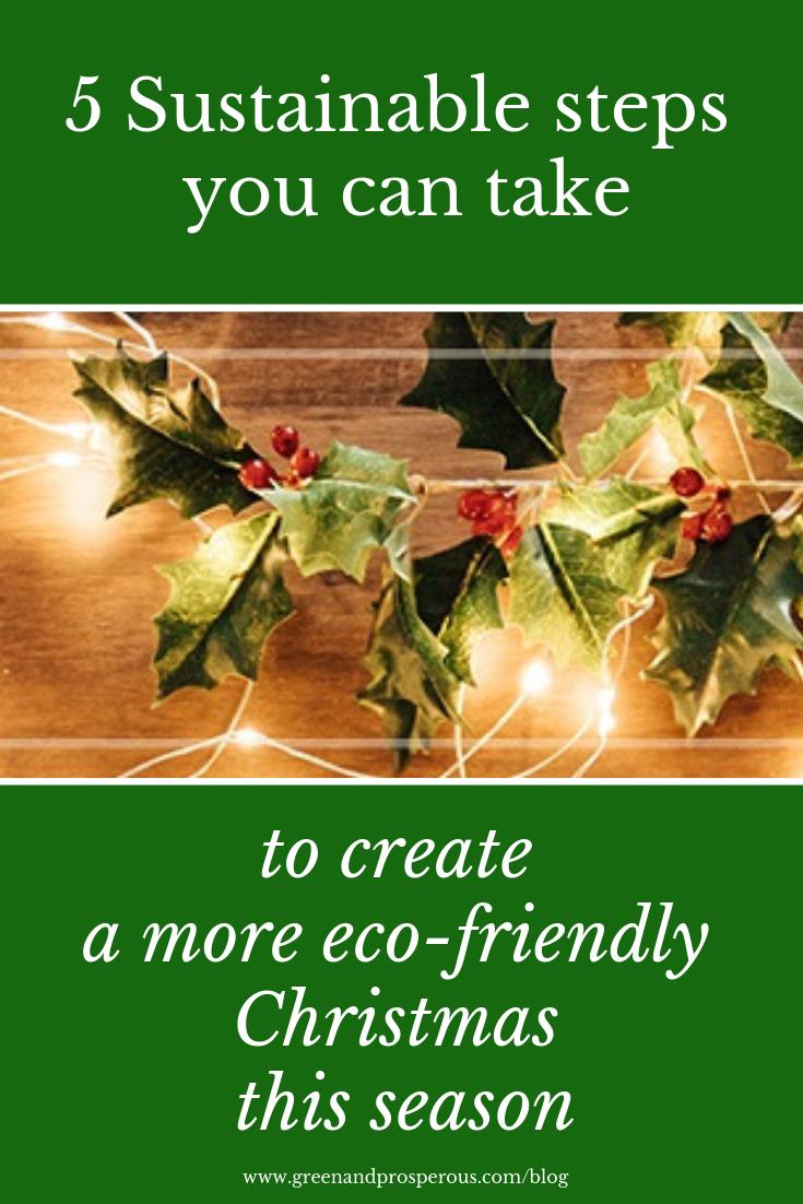 create a more eco-friendly Christmas season