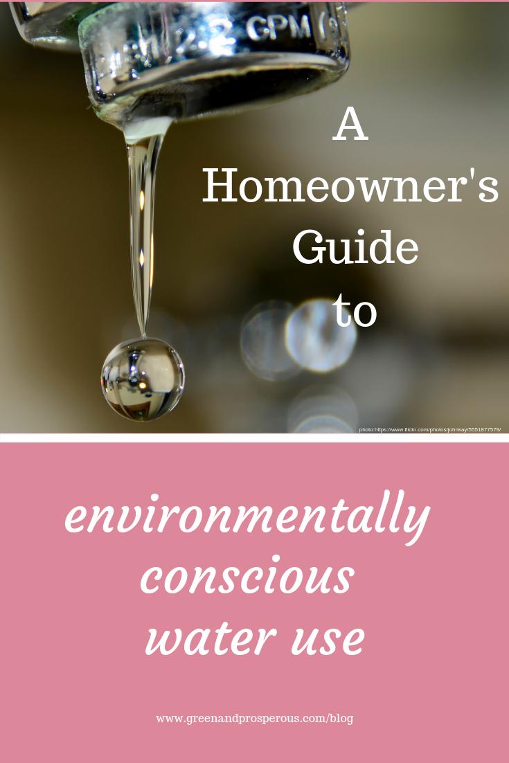 environmentally conscious water use