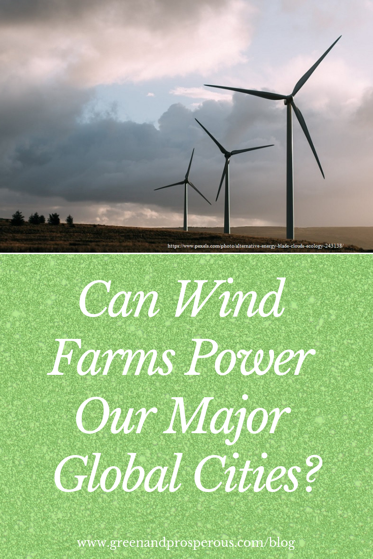 wind farms power major global cities