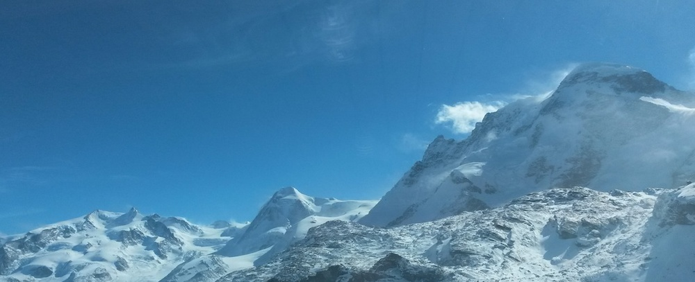 View of the Breithorn, Switzerland. By the author.