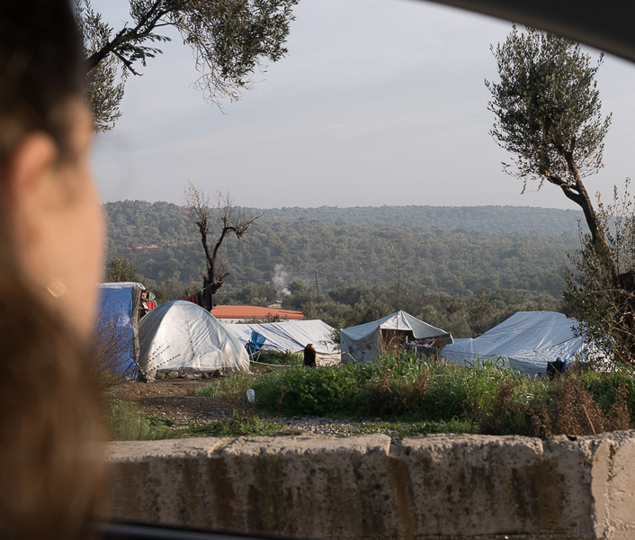 The tent city