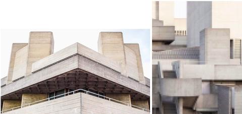 Un bel exemple avec le National Theatre - South Bank, Londres