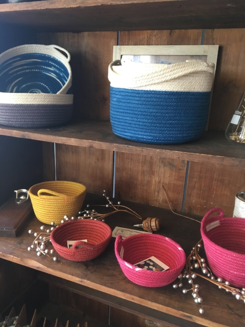 Beautiful & Practical Baskets from  Cole Mama Creations . Nicole Totino Clark is a wonderful spirit, one of the farmers at Hunts Brook Farm and a meticulous craft person - there is love in every piece.