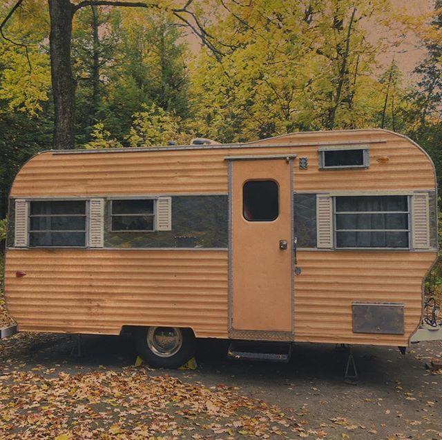 Door County Camping. #fall #vintagecamper #midwest
