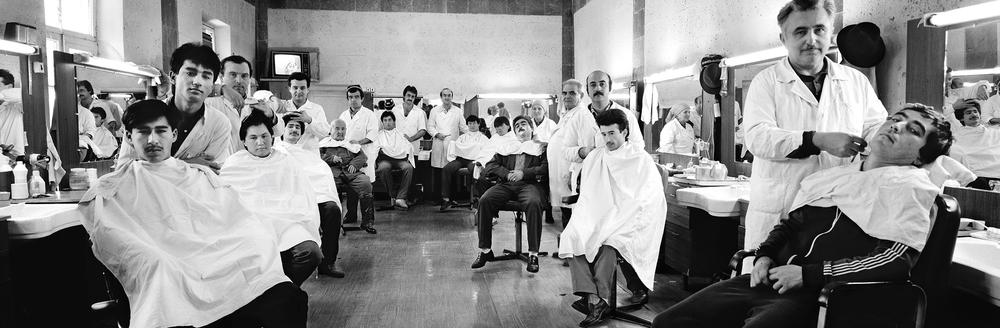Barbershop, Leninabad, Tajikistan, USSR