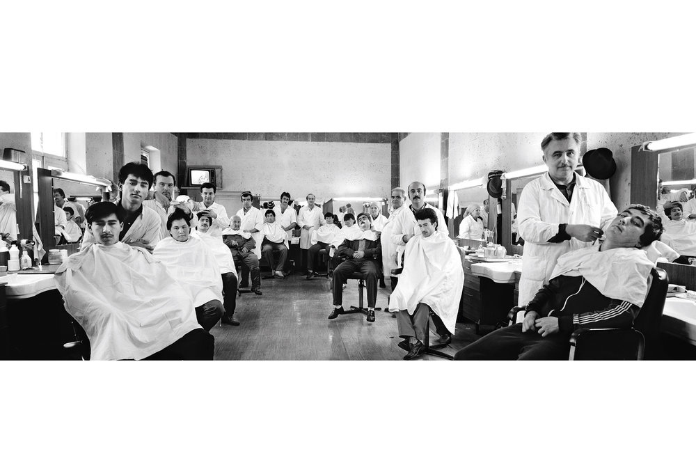 Barbershop, Leninabad, Tajikistan, 1989