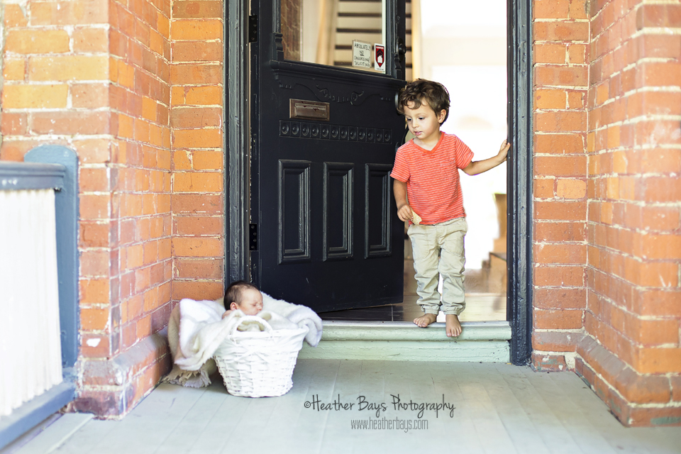 January 28th  Welcome Home Little Brother {in-home newborn portrait session}