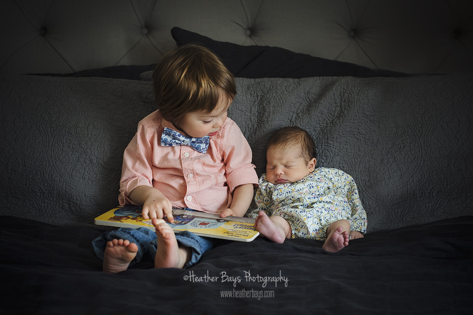 November 16th  Siblings, 8 Days New (in-home newborn portrait session)