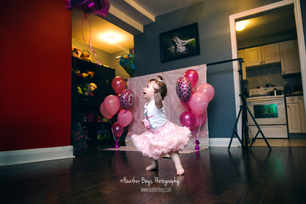 June 23rd  Addison's Cake Smash (in-home family lifestyle portrait session with cake smash)
