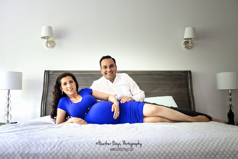 July 20th  Lovebirds And Their Baby Bump {in-home maternity portrait session}