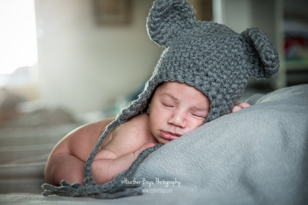 February 9th  Kyle, One Week Old {in-home newborn portrait session}