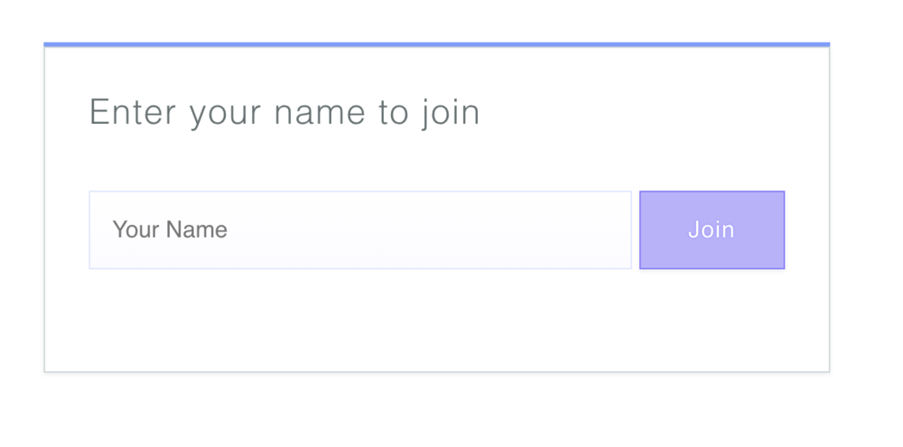 Step 2 - You will be prompted to enter your name, this can be anything