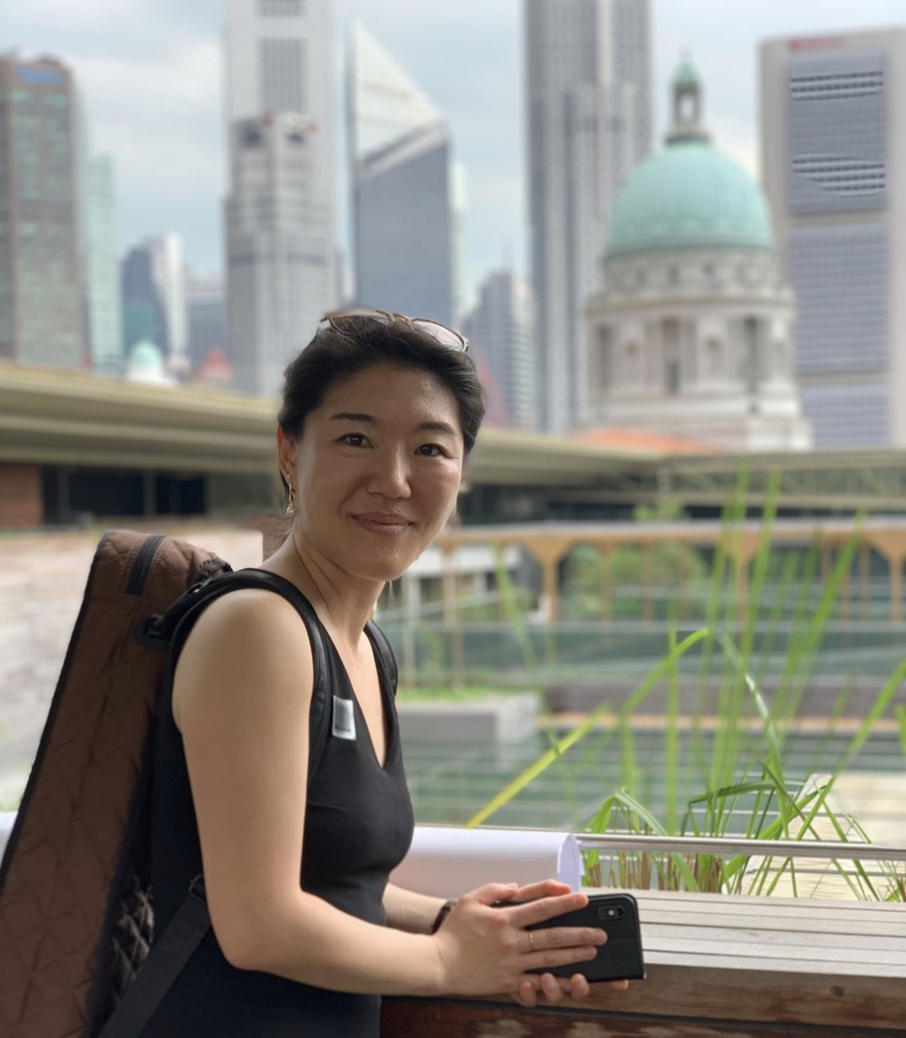 At the top of National Gallery of Singapore / March 2019