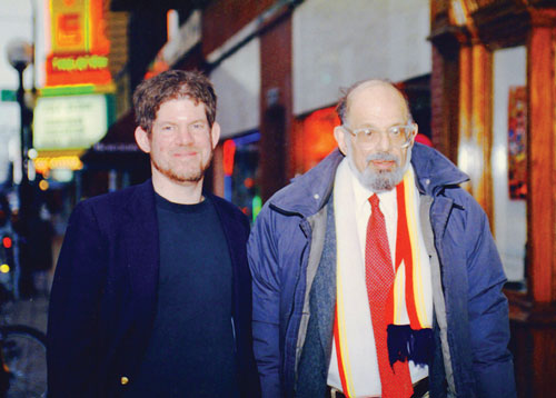 Karl with Allen Ginsberg