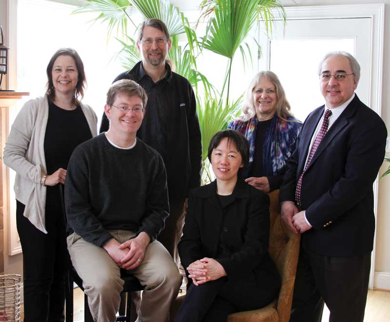 Seated: Ian Moyer, Treasurer; Yi-Li Wu Standing: Laura Robinson, President; Gus Teschke, Vice-President; Judith Hoffman, Secretary; Russ Taichmann (not pictured: Rob French, Donna Vigilant, and Kathleen Knol)