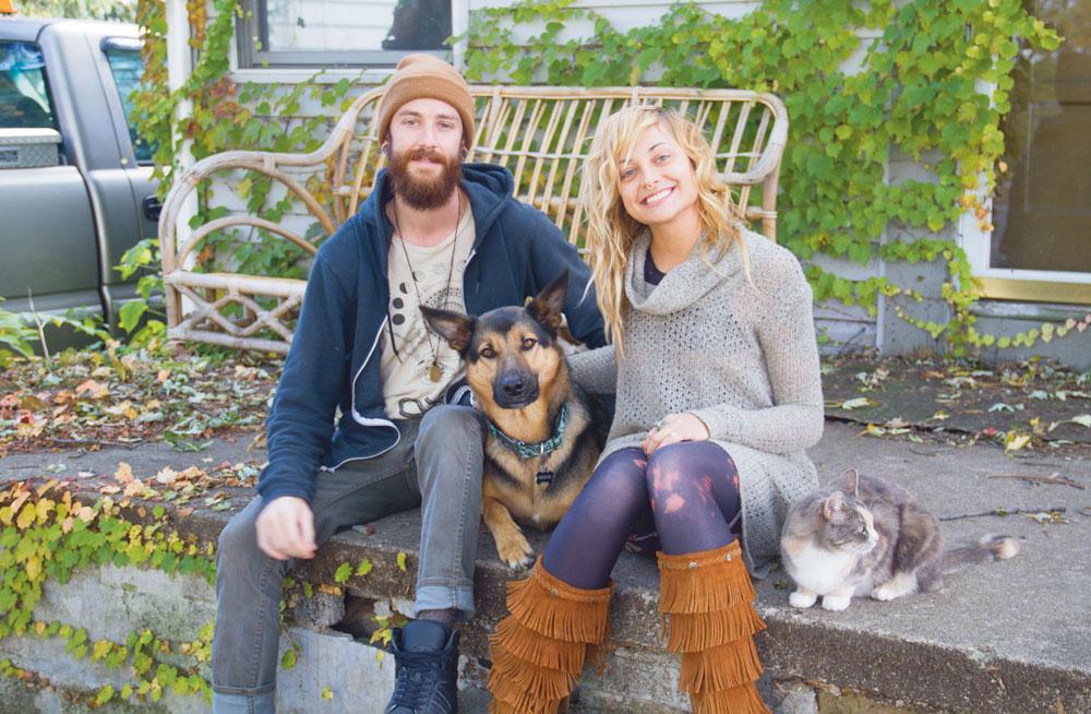 Sitara and her partner, Tim Shellabarger
