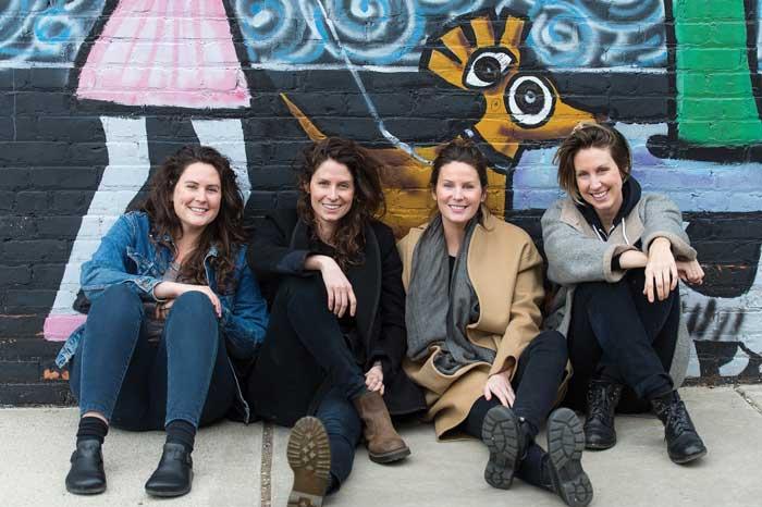 From Left: Jenny James, Jessie James, Julie James, Caitlin James