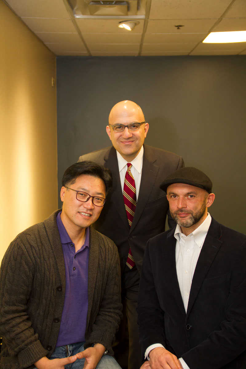 In the Middle: George A. Mashour, Director of the Center for Consciousness Science and the associate dean for clinical and translational research in the Department of Anesthesiology; On the Left: Dr. Uncheol Lee, Associate Director of the Center for Consciousness Science and Research Assistant Professor with the U-M Medical School Department of Anesthesiology; Dr. Tarik Bel-Bahar – Interviewed in this Feature Article