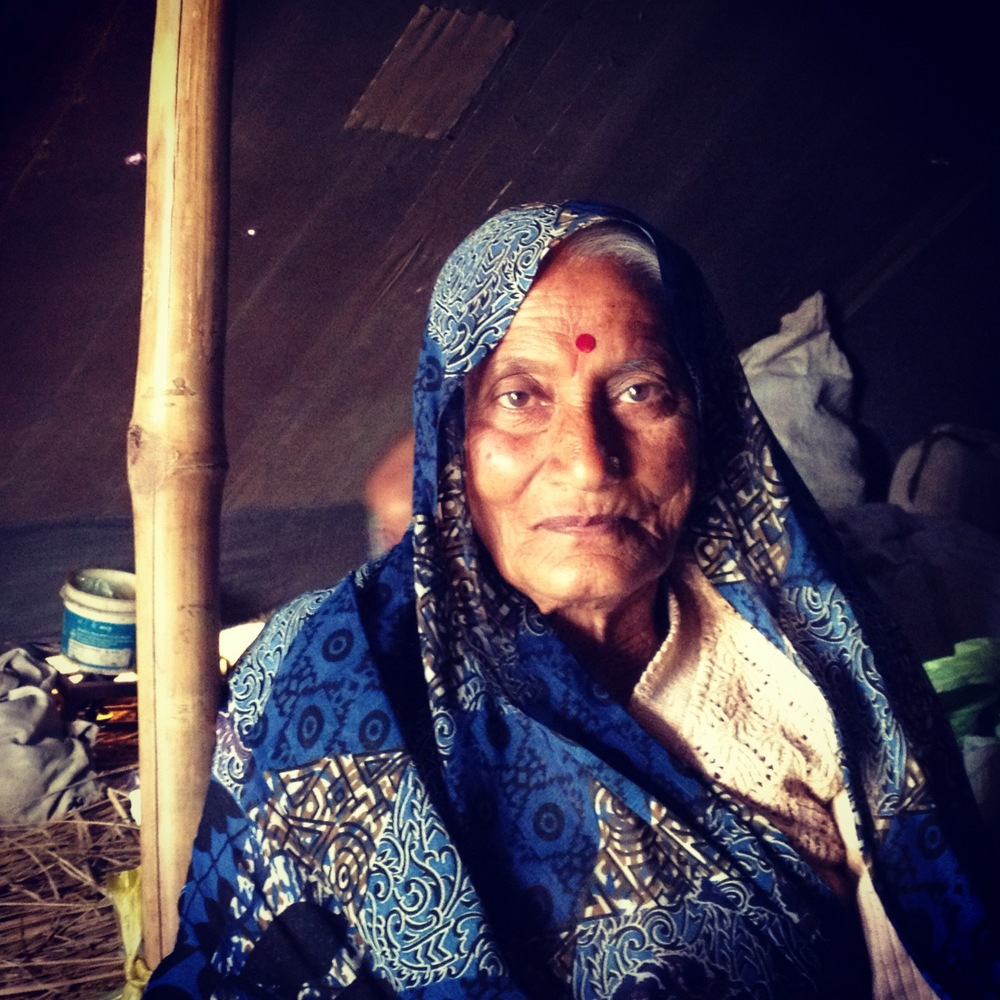A beautiful Kalpavasi woman who had been coming to the Kumbh for the last 50years