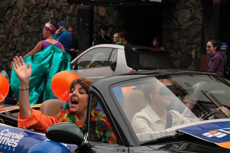 Carole James, Pride Parade, Victoria B.C