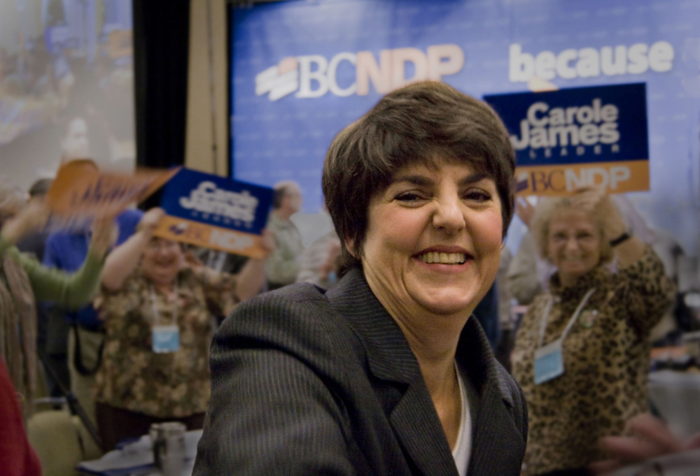 Carole James, former Leader NDP, Vancouver B.C.