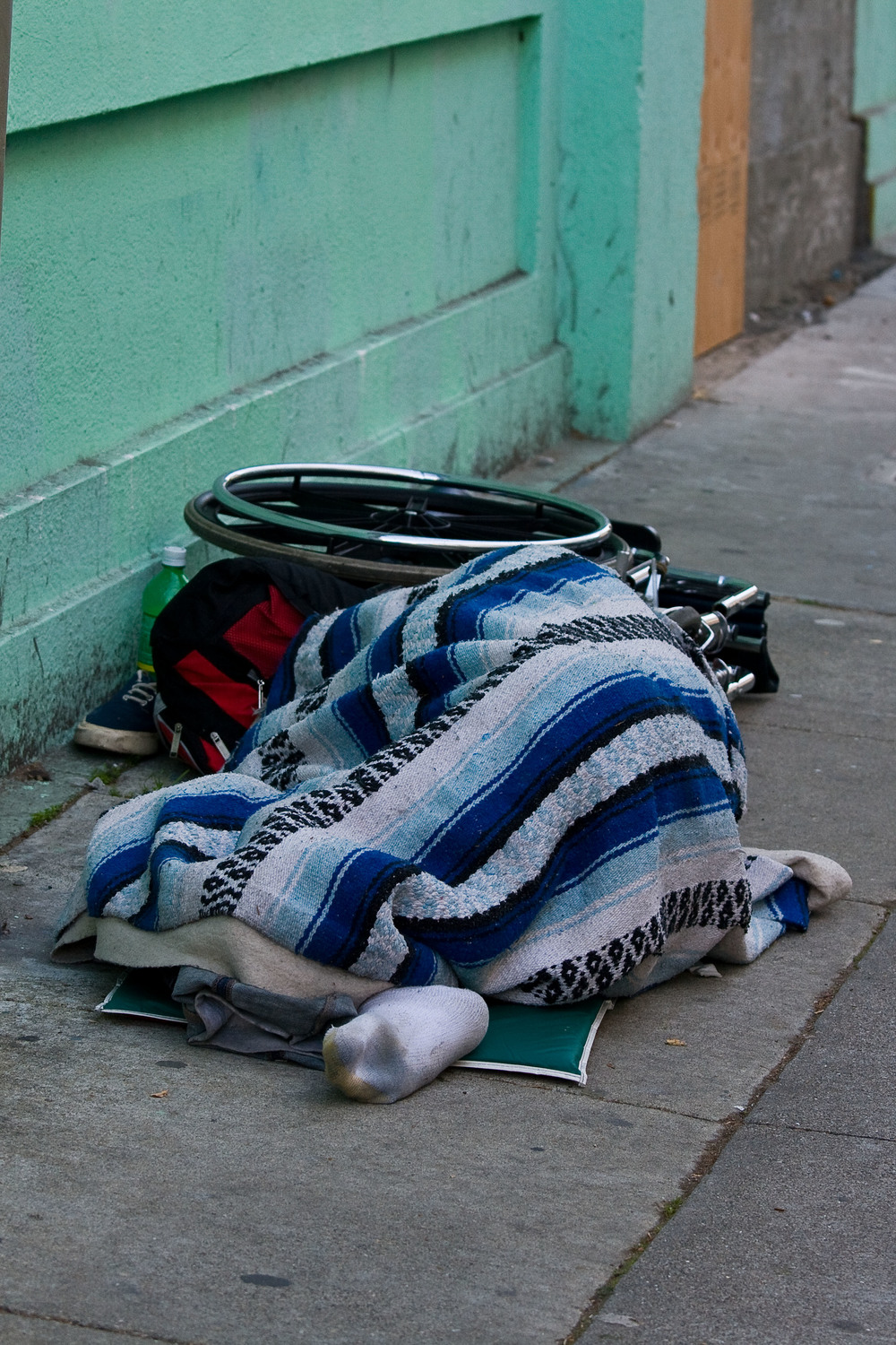 Disabled and homeless SF USA