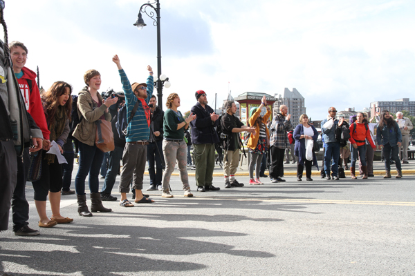 """Powershift"" Blockade, Victoria BC"