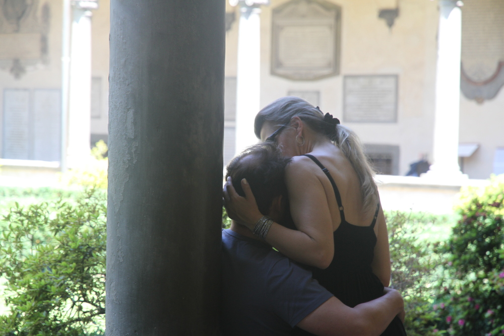 Love in Santa Maria Novella Cloisters, Florence