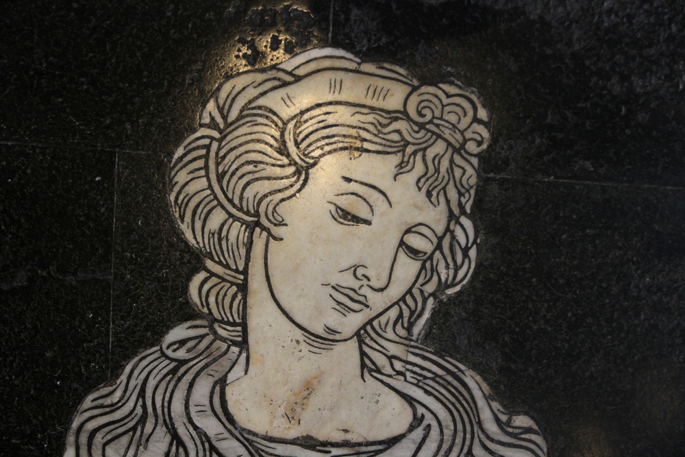 Sybil, inlaid marble, Duomo,Sienna