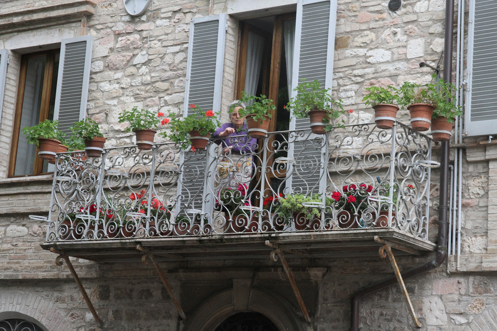 Balcony, Assisi