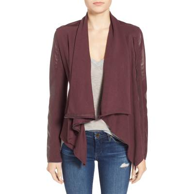 BlankNYC Vegan leather cowlneck zip jacket, XS, $98