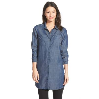 Caslon chambray tunic, XS, $78