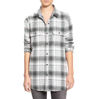 Treasure&Bond Plaid Flannel Tunic, XS, $78