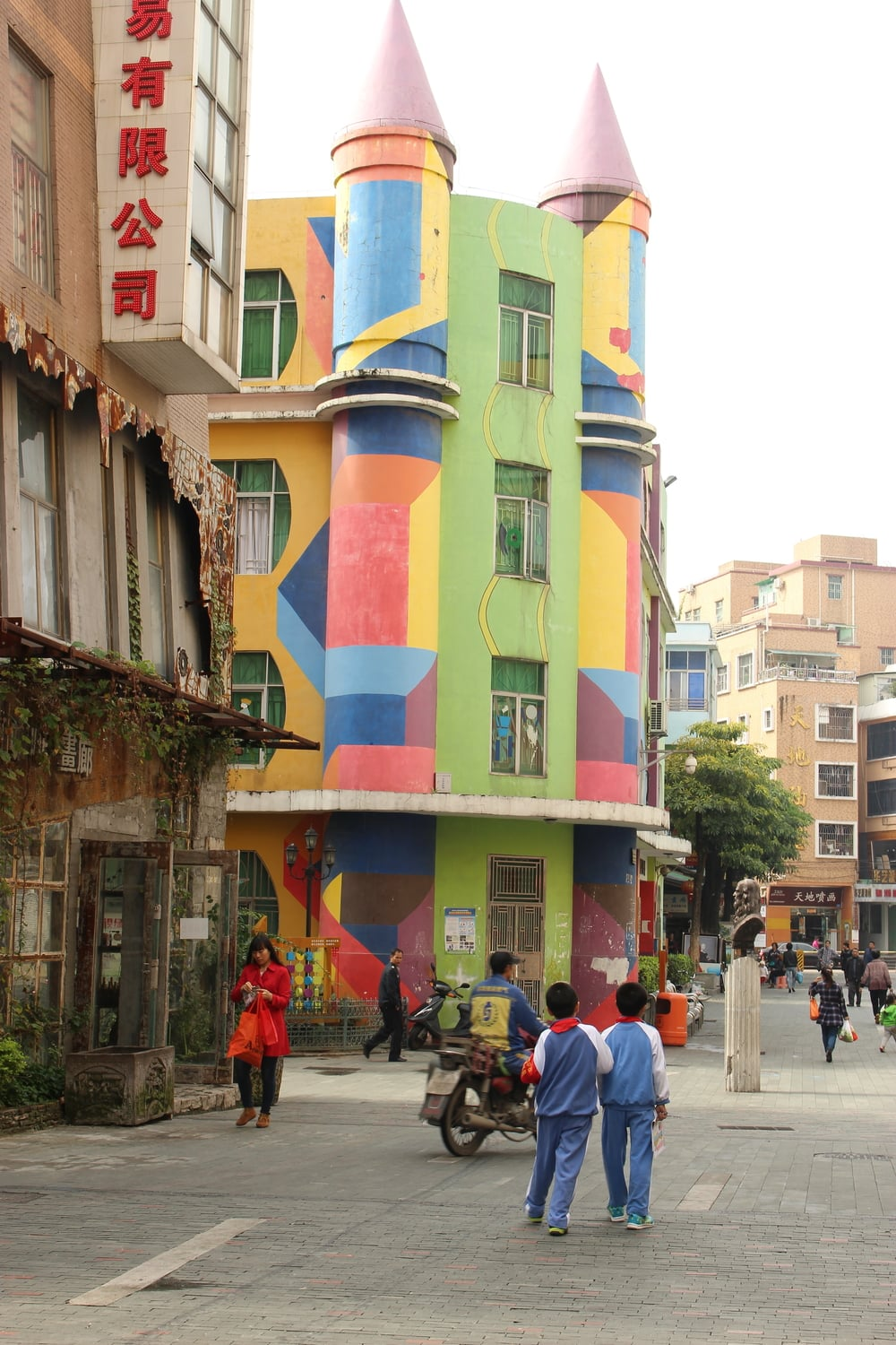 We were told that this colorful castle is a kindergarten!