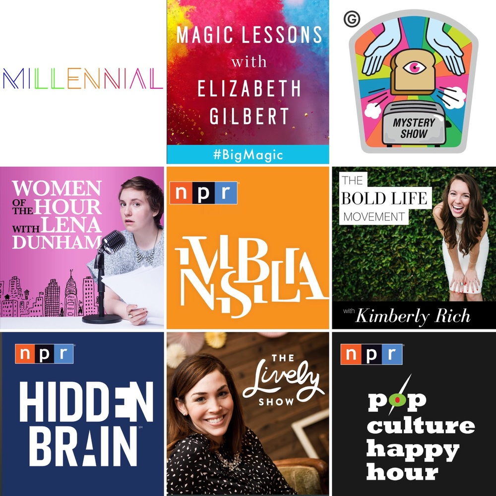 9 podcasts making me happy right now
