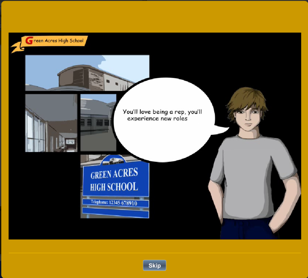 CAVA Screenshot, Character Interaction